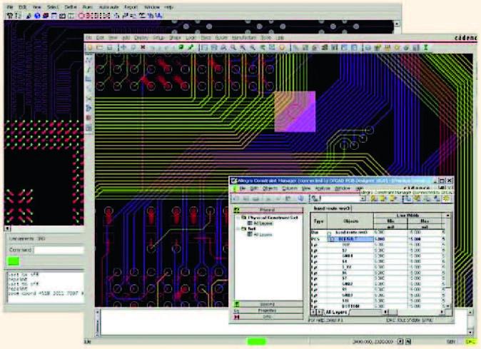 Cadence Design Systems объявила о выпуске новой версии популярного в России пакета проектирования печатных плат SPB/OrCAD 16.3