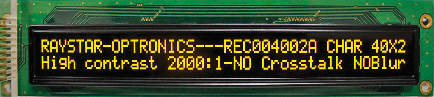 Текстовый OLED-дисплей с рекордной длиной– две строки по 40символов в каждой