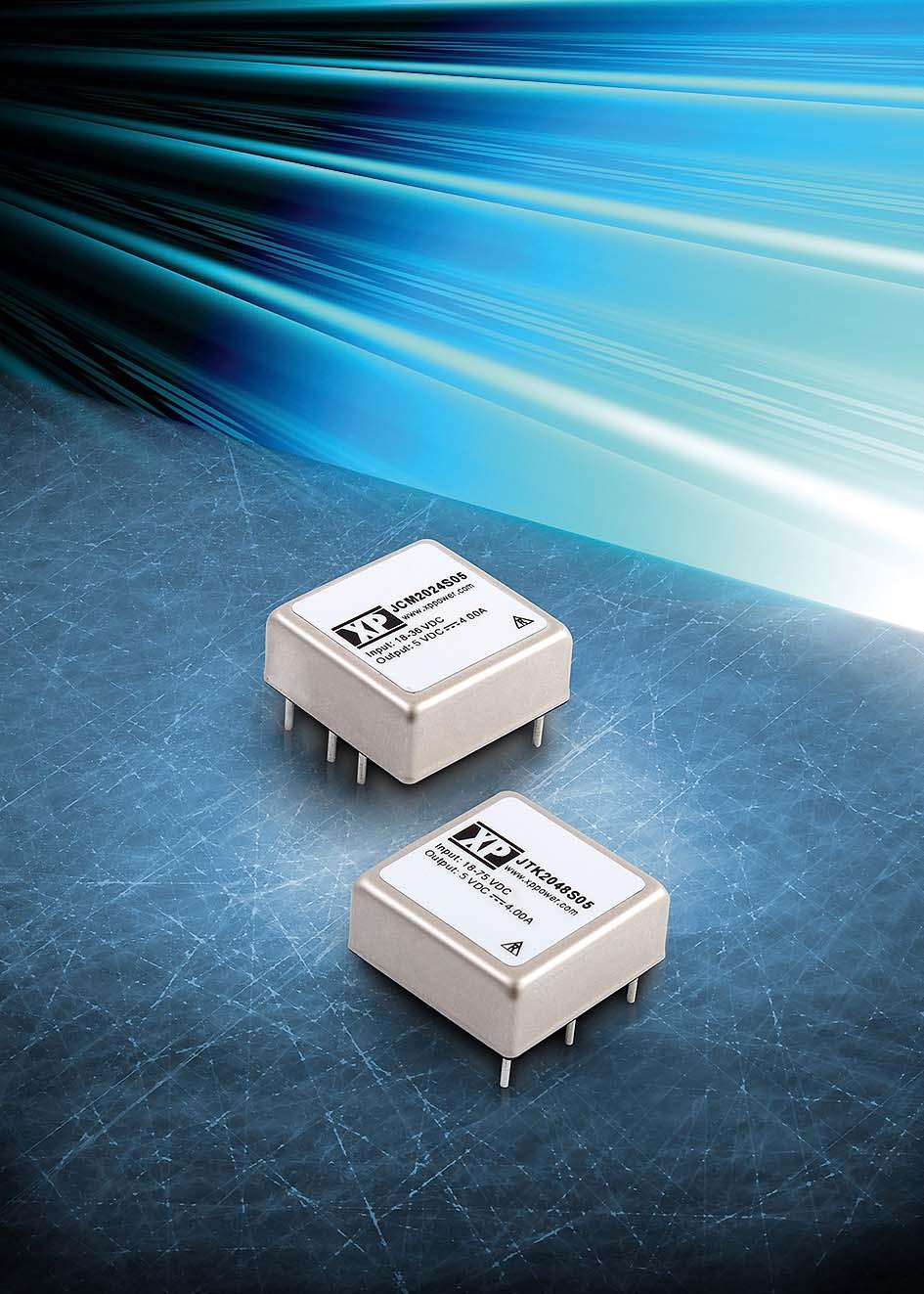 Сверхкомпактные 20-Вт DC/DC-преобразователи с высокой удельной мощностью
