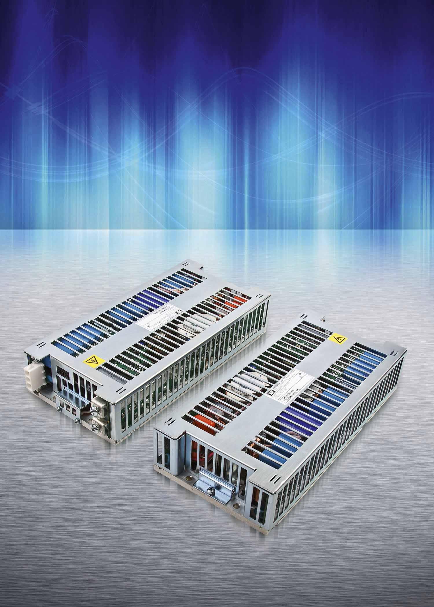 Высокоэффективные 400- и 600-Вт источники питания AC/DC с отводом тепла через основание корпуса для жёстких условий эксплуатации и применений в герметичных корпусах
