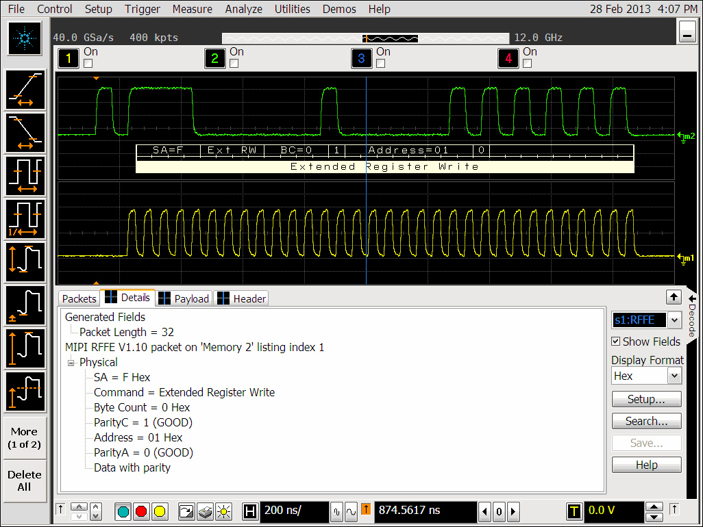 Agilent: первое в отрасли ПО декодирования данных протокола MIPI RFFE для осциллографов