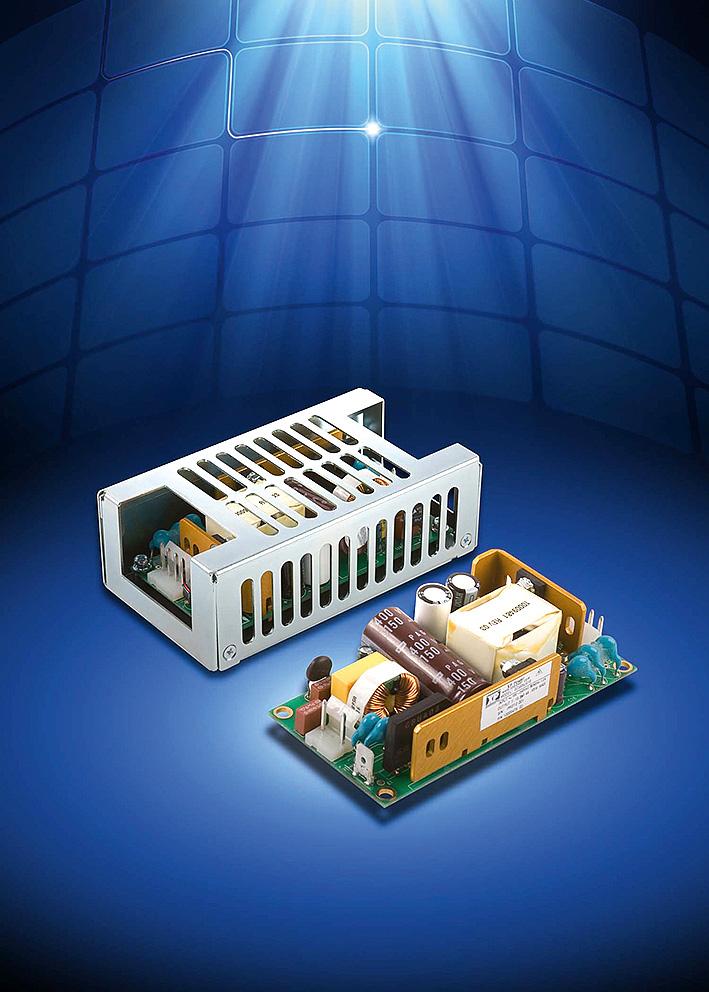 Компактные источники питания AC/DC обеспечивают мощность 65 Вт при размерах основания платы 50,8 × 101,6 мм