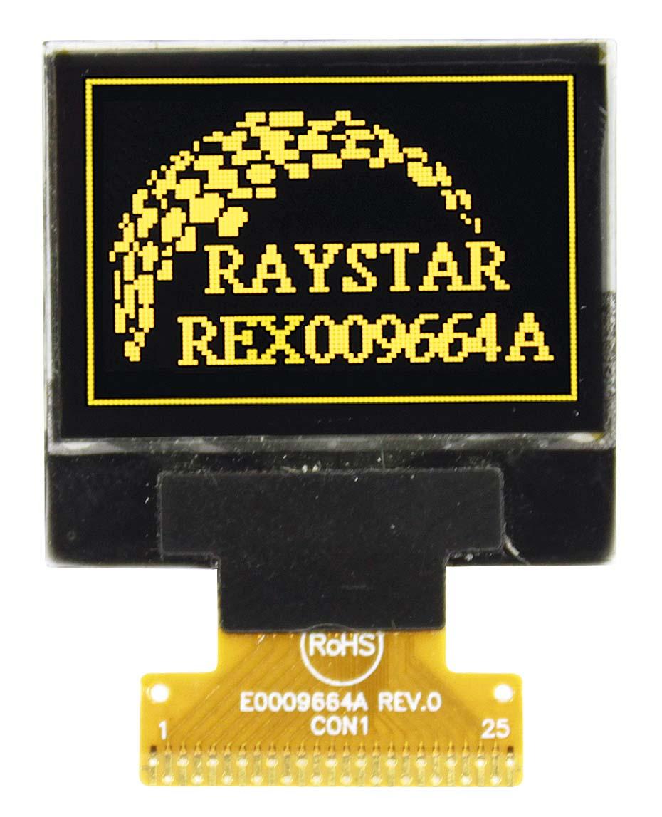 """Новый малоформатный 0,95"""" графический OLED-дисплей от Raystar Optronics"""