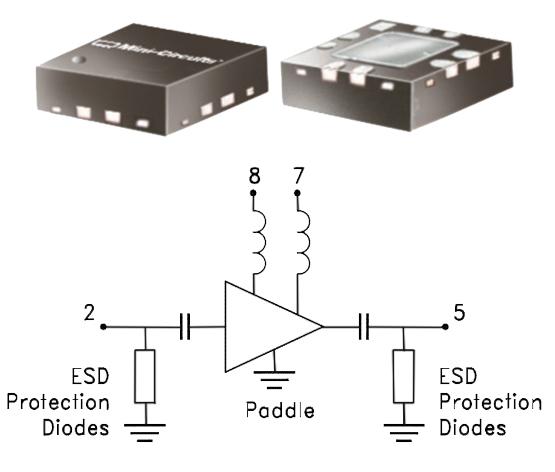 Новая СВЧ ИМС MNA-4W+  от Mini-Circuits