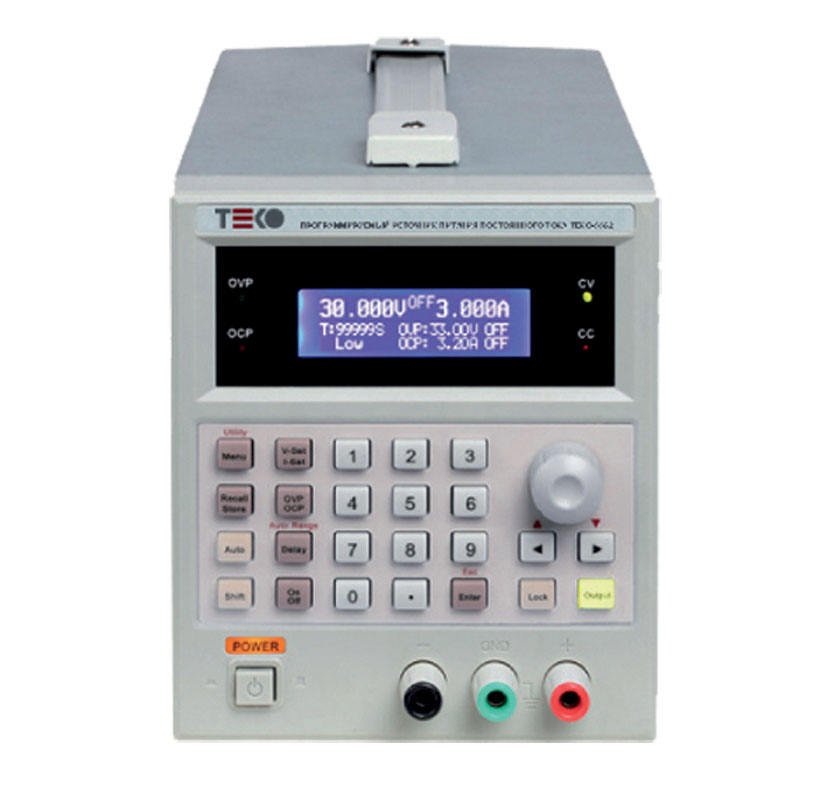Одноканальные программируемые ИП постоянного тока серии  TEKO-5500 от ЗАО «ТЕСТПРИБОР»