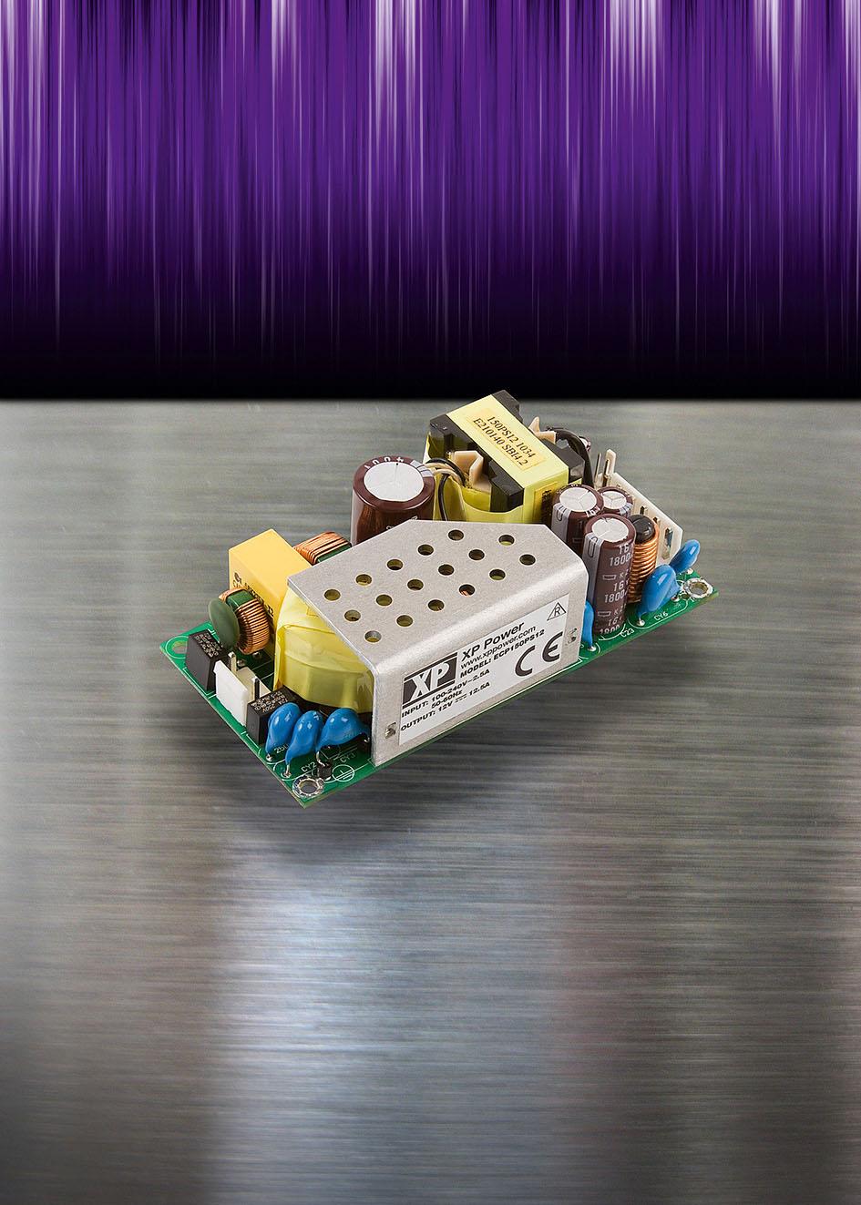 Сверхкомпактный 150-Вт источник питания AC/DC с размерами платы 101,6 x 50,8 мм