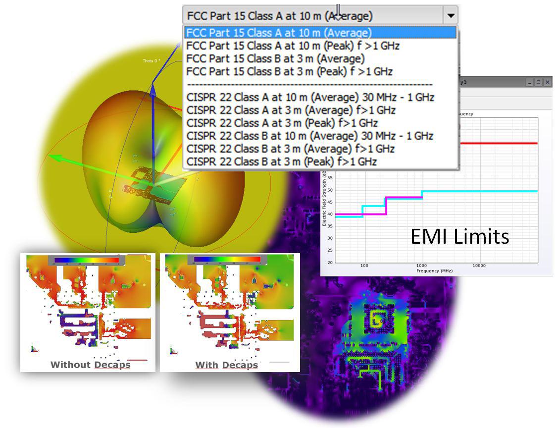 САПР 3D электромагнитного моделирования нацелена на проверку электромагнитной совместимости
