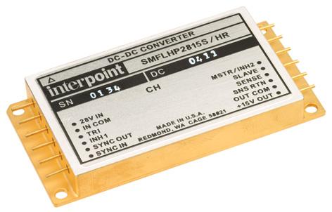 Радиационно-стойкие 100 Вт DC/DC-преобразователи серии SMFLHP от Crane Electronics