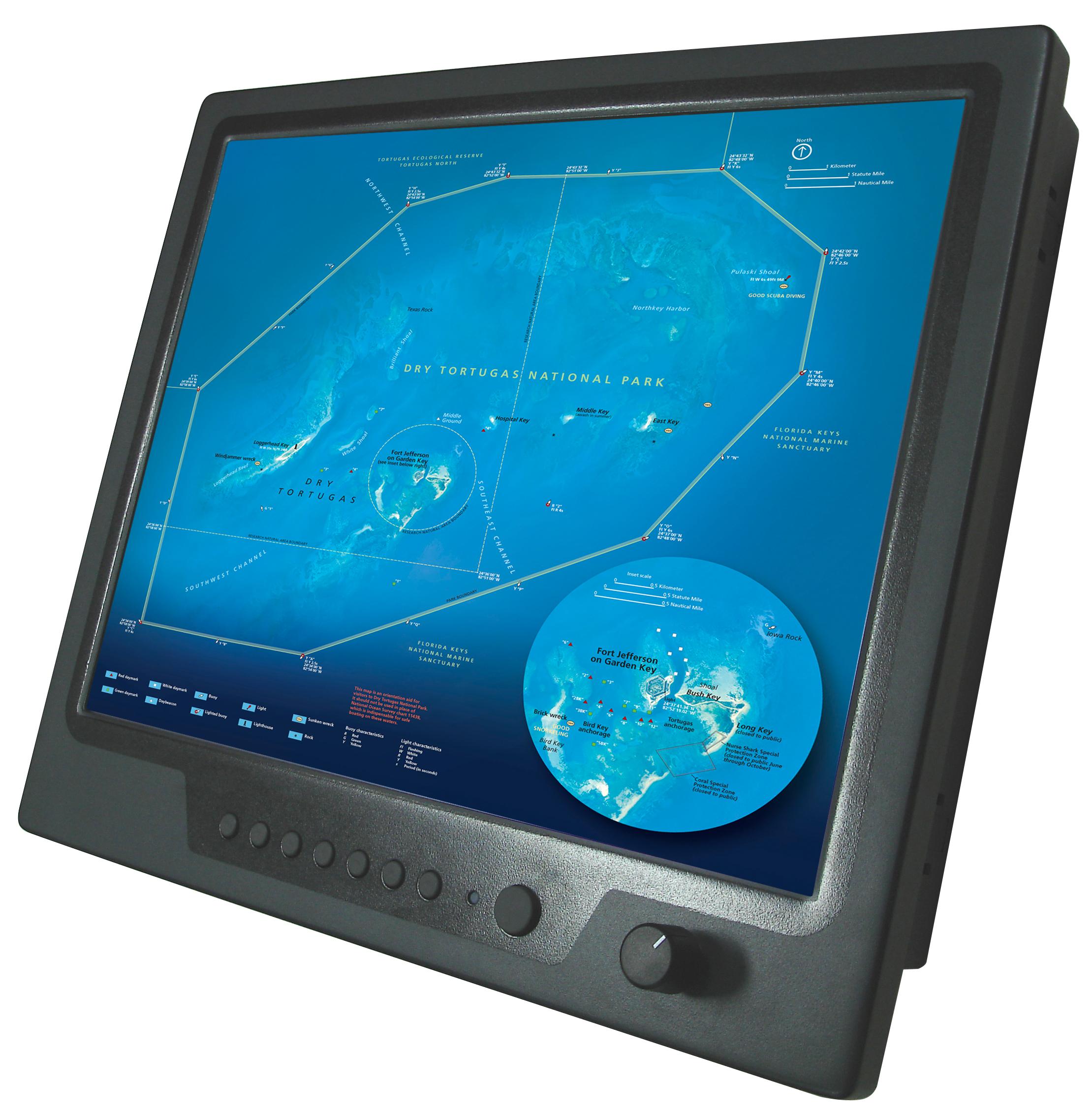 ЖК-дисплеи высокой яркости для применений в аппаратуре морской техники