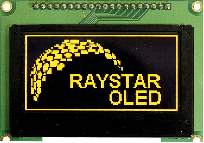 Модуль графического OLED-дисплея RET012864E/F, выполненного с применением технологии TAB