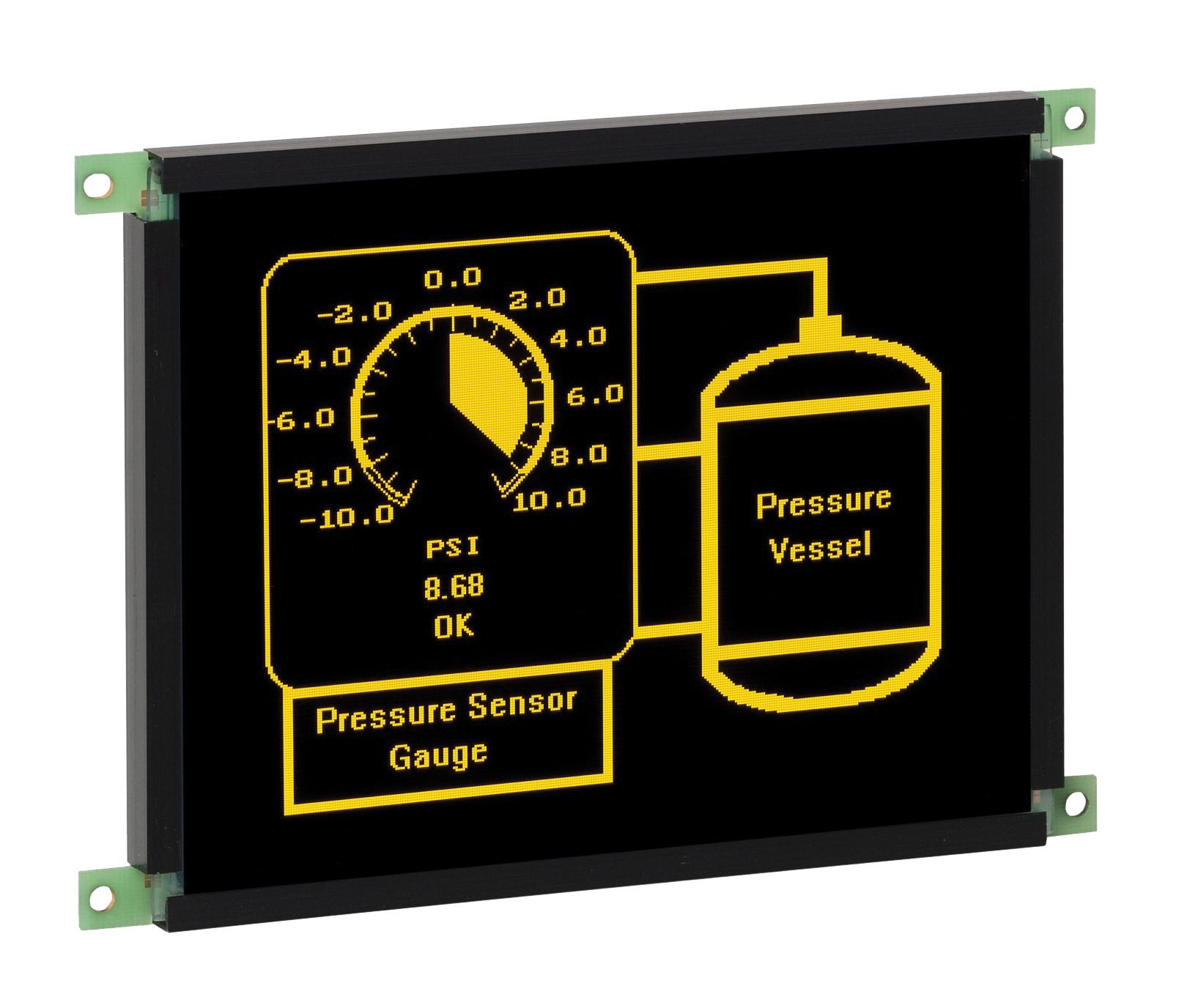 QVGA-дисплей с защитным покрытием печатных плат  и фиксируемым  соединителем