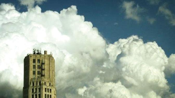 Радар высокого разрешения обнаруживает капли дождя