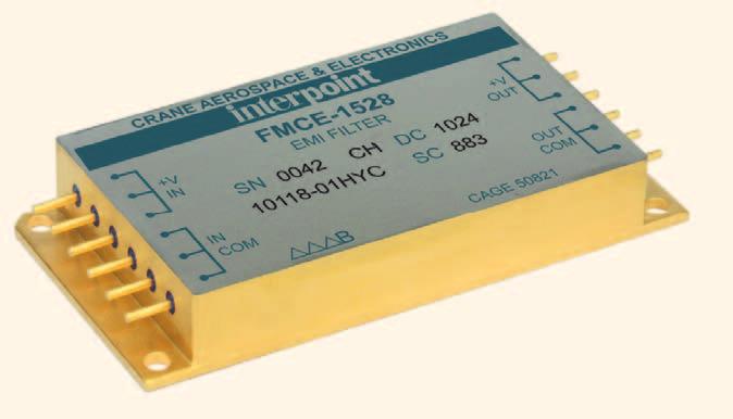 Новые помехоподавляющие фильтры Interpoint с высоким значением тока