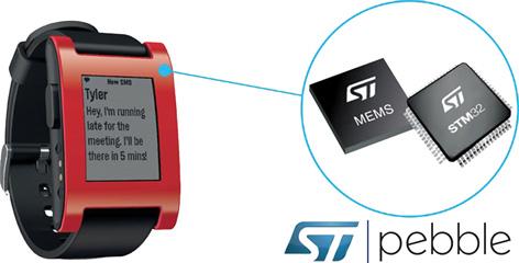 В основе умных часов Pebble лежит чип STM