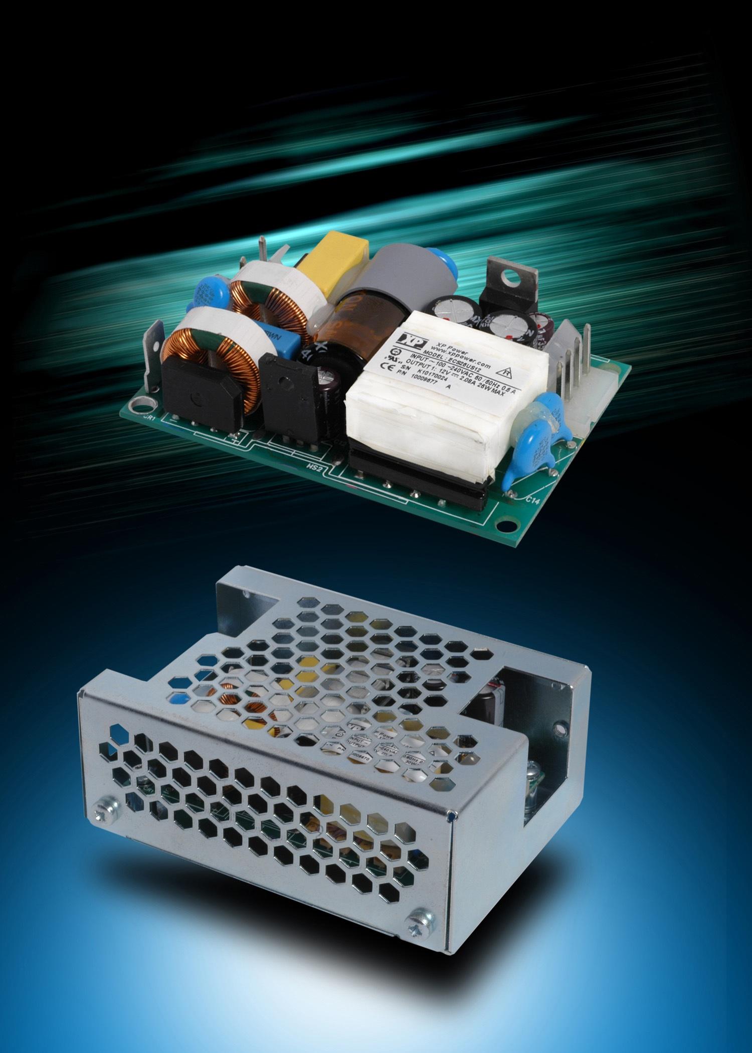 Компактные 45-Вт источники питания AC/DC для применения в промышленном и медицинском оборудовании