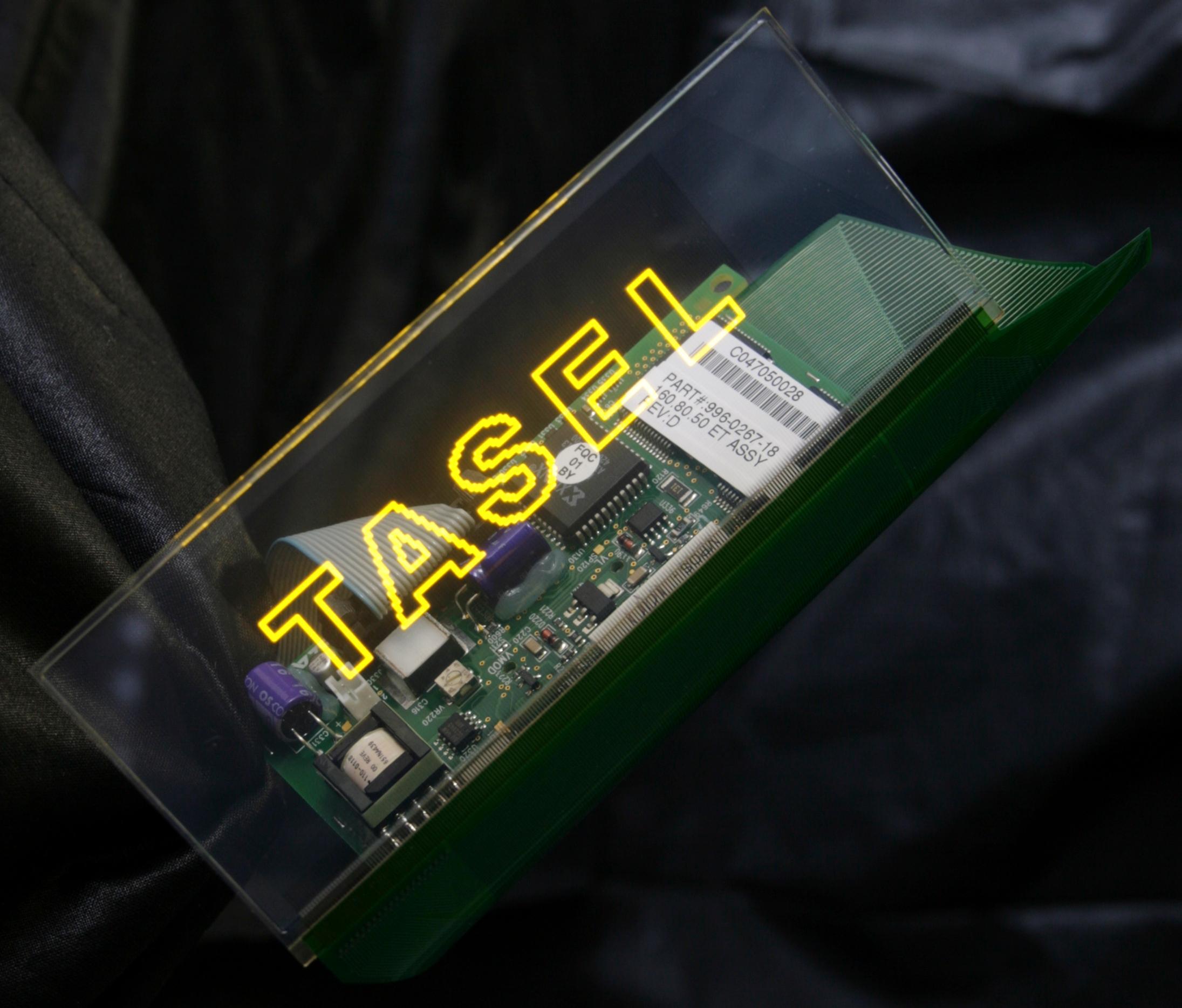 Первый прозрачный электролюминесцентный дисплей в серийном исполнении