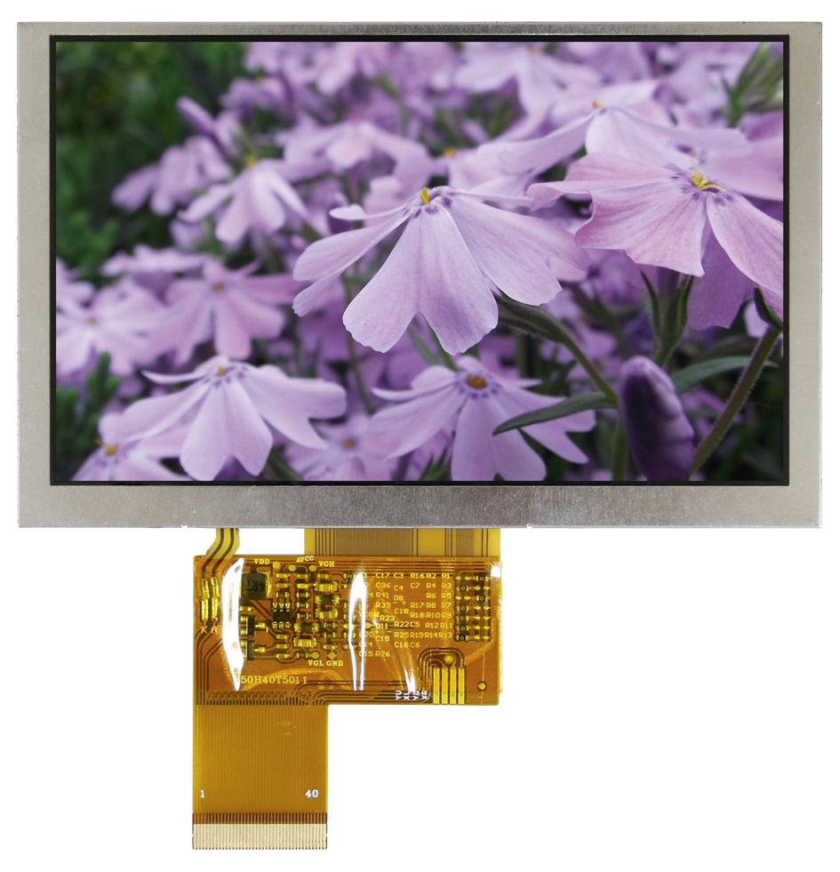 5-дюймовые TFT ЖК-дисплеи  с высоким разрешением  от Raystar Optronics