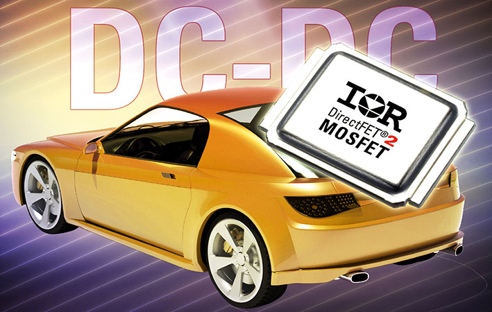 Транзисторы MOSFET в корпусах DirectFET®2, оптимизированные для преобразования постоянного напряжения в автомобильном оборудовании, требующем высокой удельной мощности и эффективности