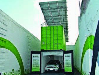 Новое применение солнечных батарей SHARP – зарядка электромобилей