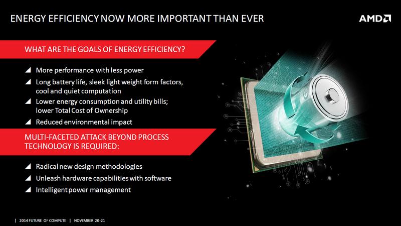 AMD разъясняет принципы энергоэффективного дизайна новых чипов