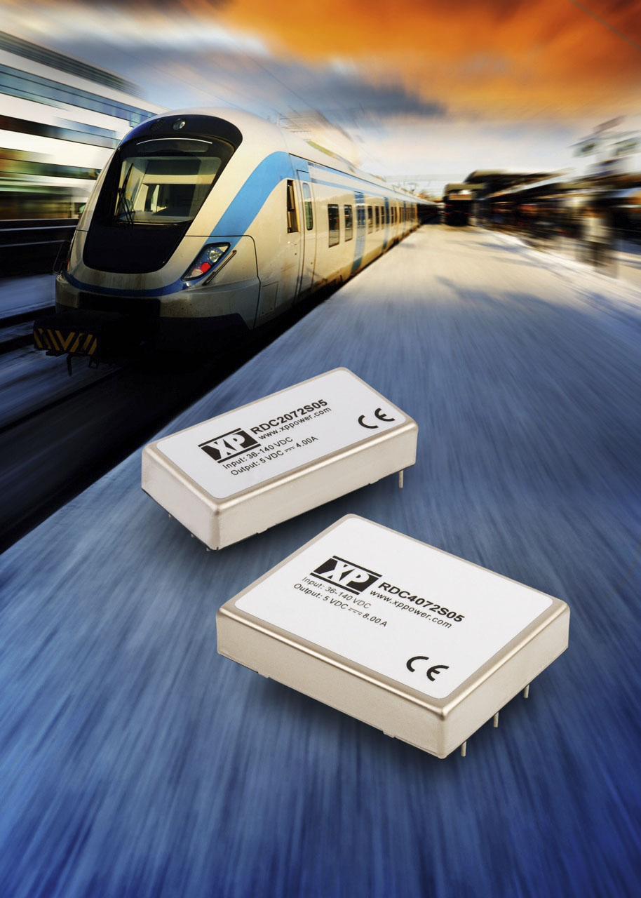 XP Power: 40-ваттные  DC/DC-преобразователи  для РЖД