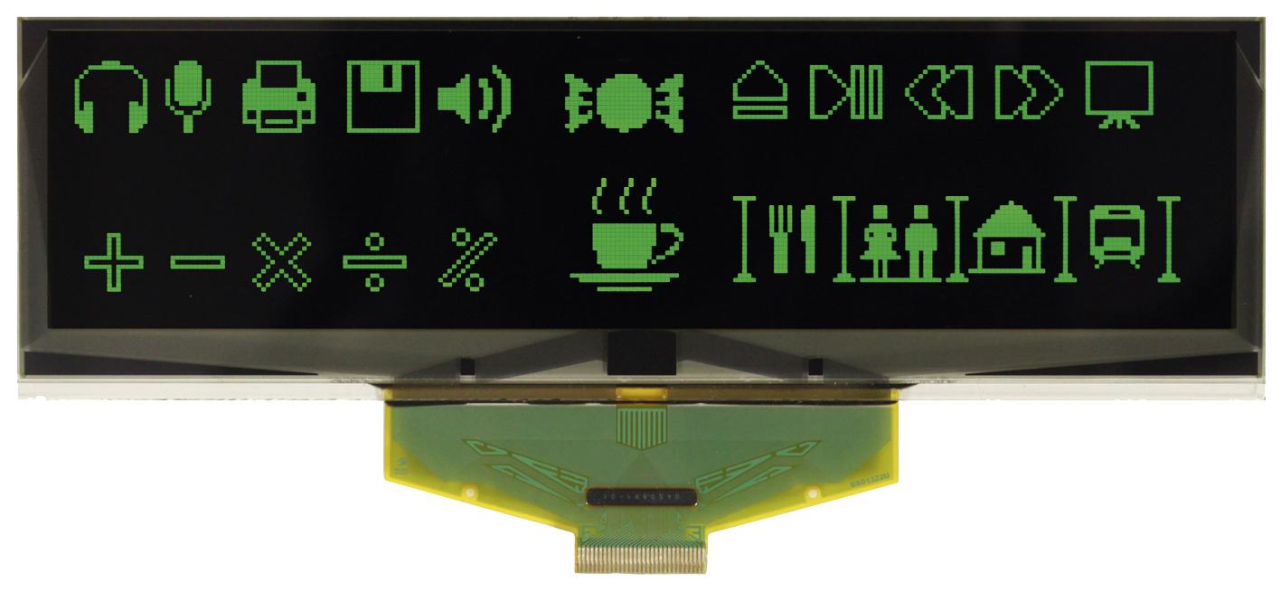 Самый большой пассивно-матричный OLED-дисплей