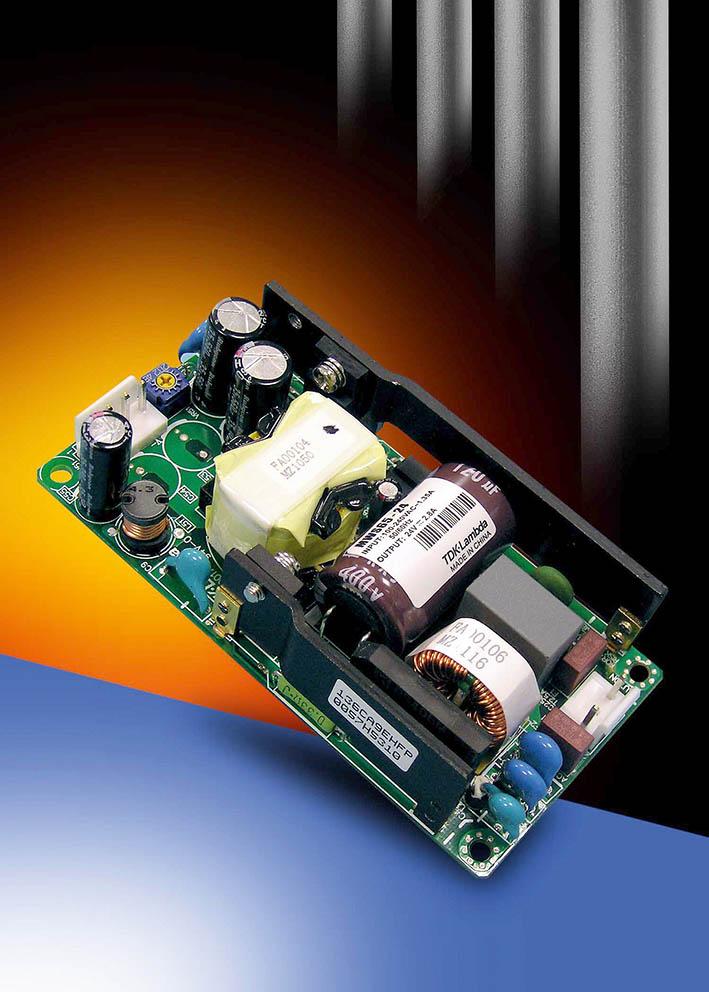 65-Вт источники питания AC/DC с площадью платы 50,8 x 101,6 мм от TDK-Lambda