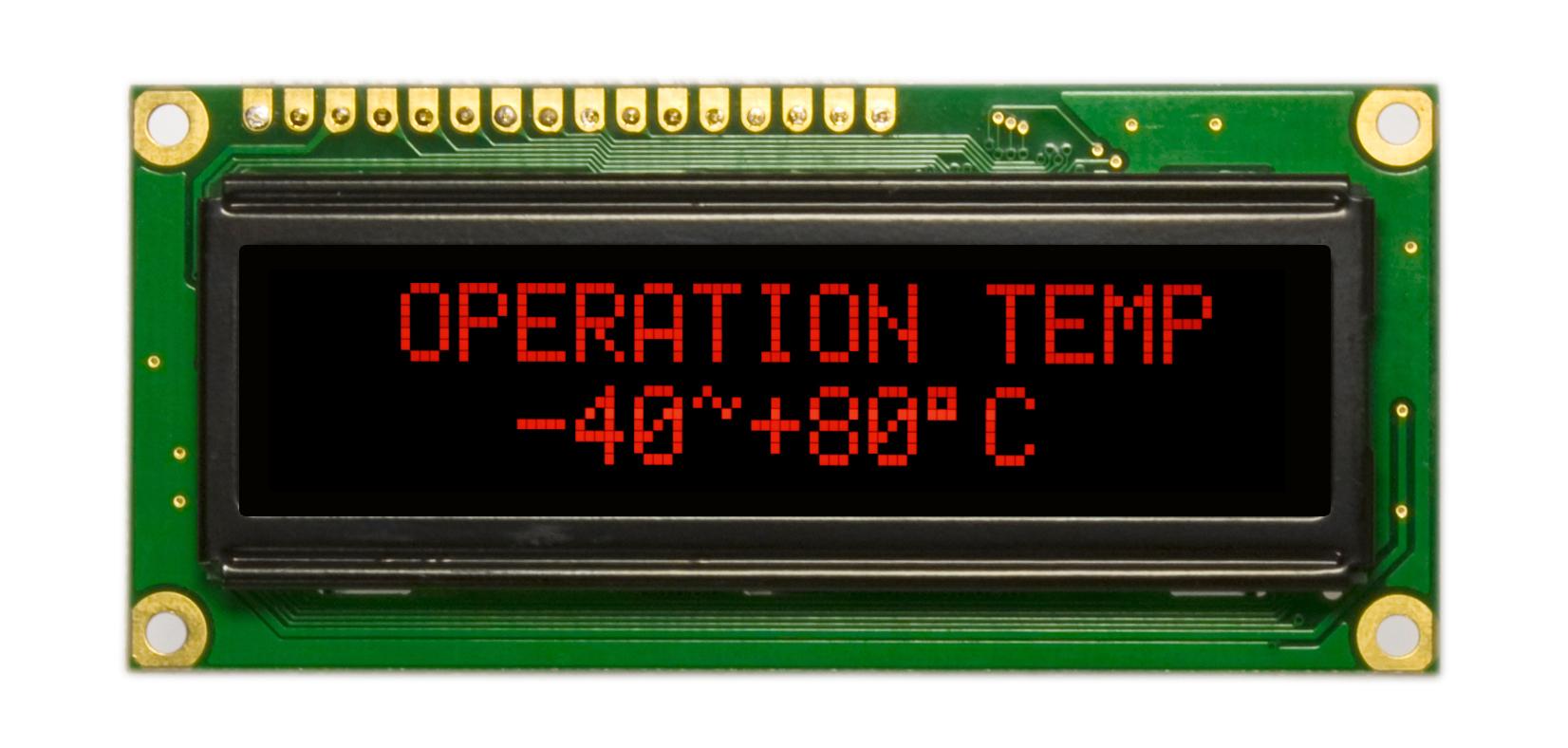 Подтверждён длительный срок службы OLED-дисплеев Raystar с красным цветом свечения экрана