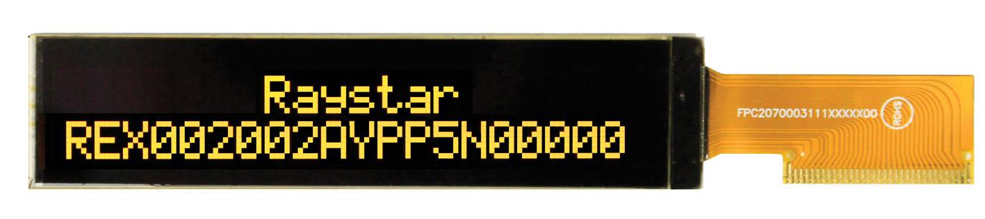 Малогабаритный  OLED-дисплей REX002002A для вывода текстовых сообщений