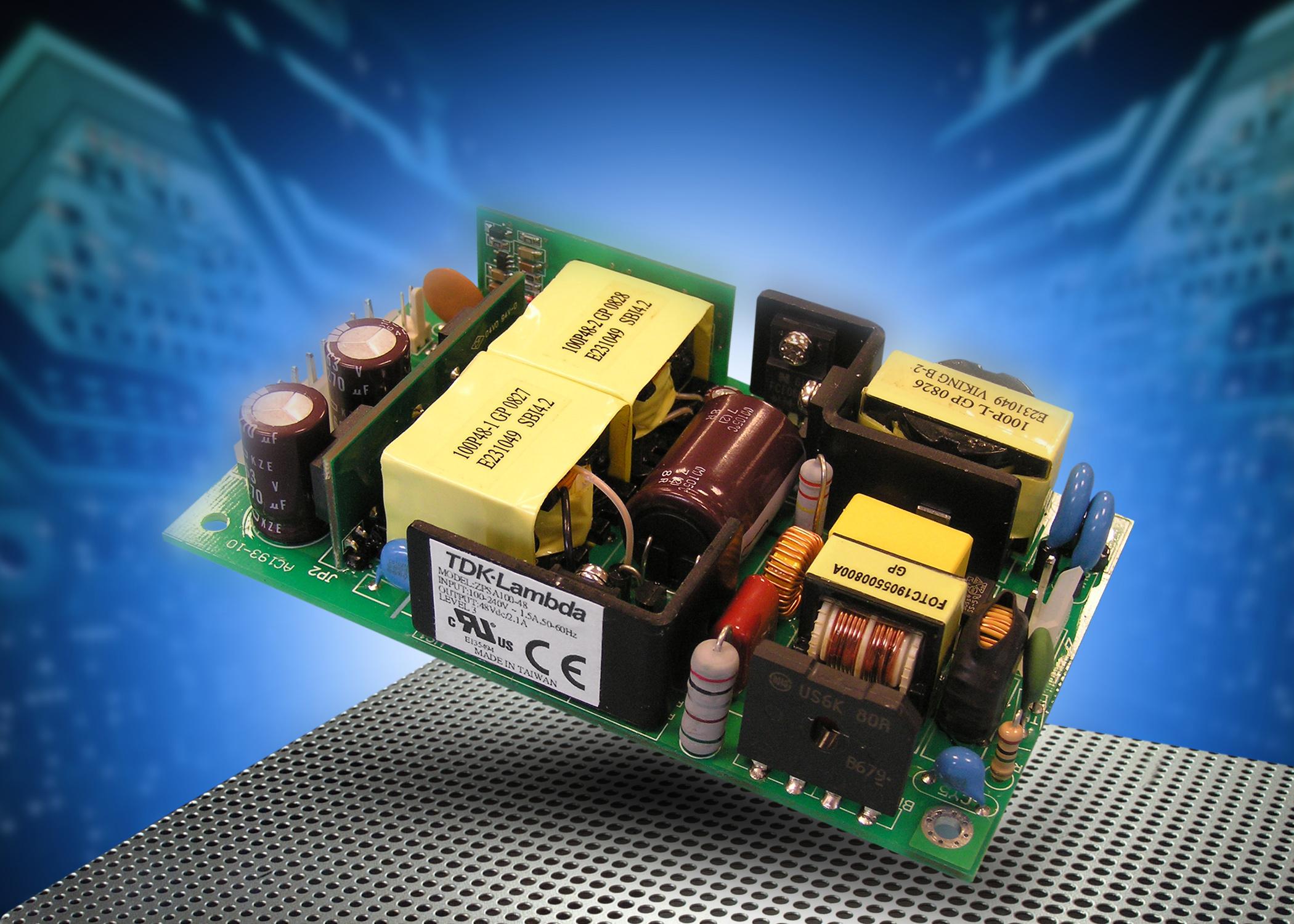 100-Вт низкопрофильные источники питания AC/DC для монтажа на печатную плату