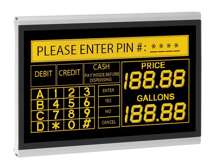 Электролюминесцентный дисплей EL640.400-С3 СС с защитным покрытием печатных плат
