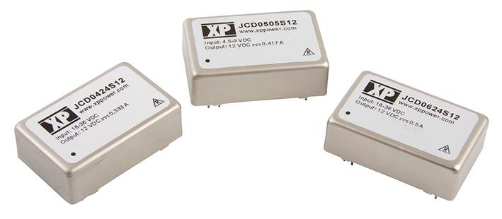 Недорогие DC/DC-преобразователи серии JCD с выходными мощностями 4, 5 и 6 Вт от XP Power