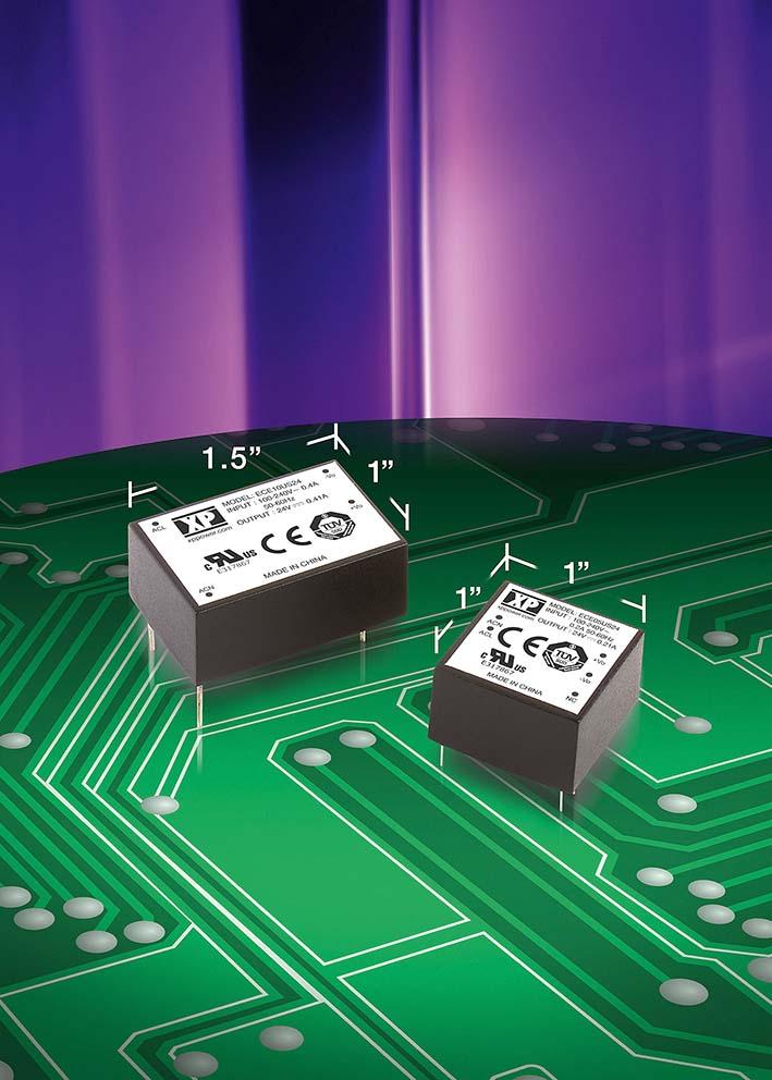 Миниатюрные 5- и 10-Вт источники питания AC/DC от XP Power