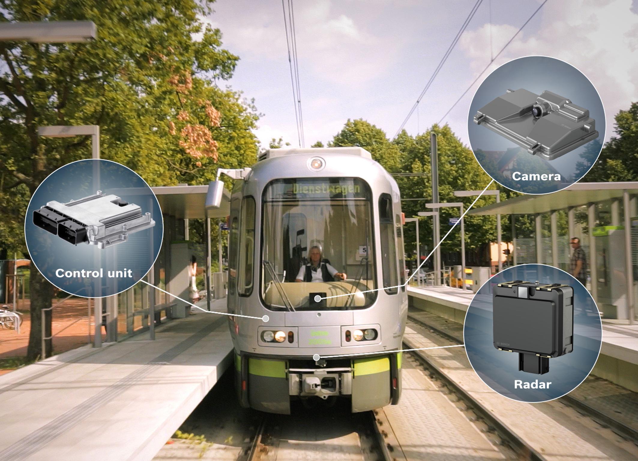 Система предупреждения об опасности столкновения для ж/д-транспорта от Bosch (ВИДЕО)