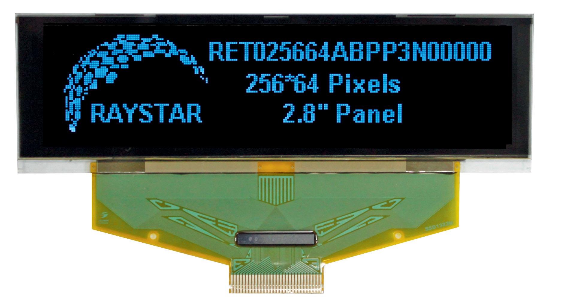 """2,8"""" графический дисплей OLED с разрешением 256 × 64"""