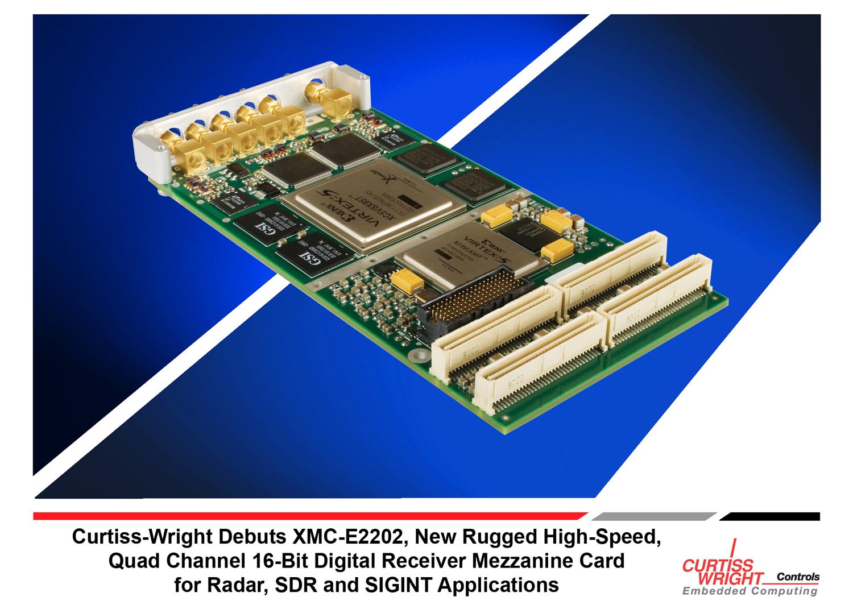 Curtiss-Wright XMC-E2202: четырёхканальный цифровой приёмник для радиолокации, программного радио (SDR) и радиотехнической разведки