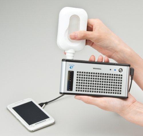 Dynario заряжает телефоны с помощью метанола