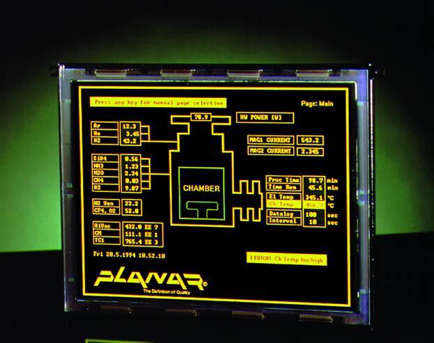 Электролюминесцентный дисплей EL640.480 AM8 ETL с диапазоном рабочих температур –60...+65°C