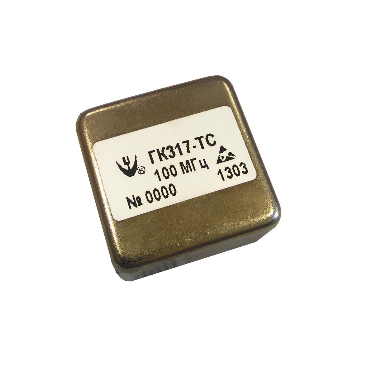 Миниатюрный высокочастотный прецизионный малошумящий кварцевый генератор ГК317-ТС