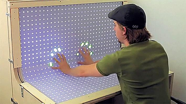 Прототип изогнутого сенсорного экрана