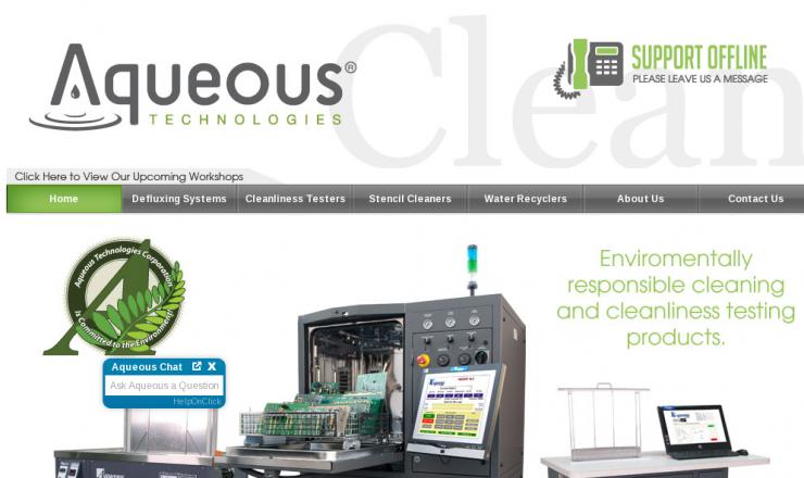 Вебинары Aqueous Technologies по отмывке и надёжности