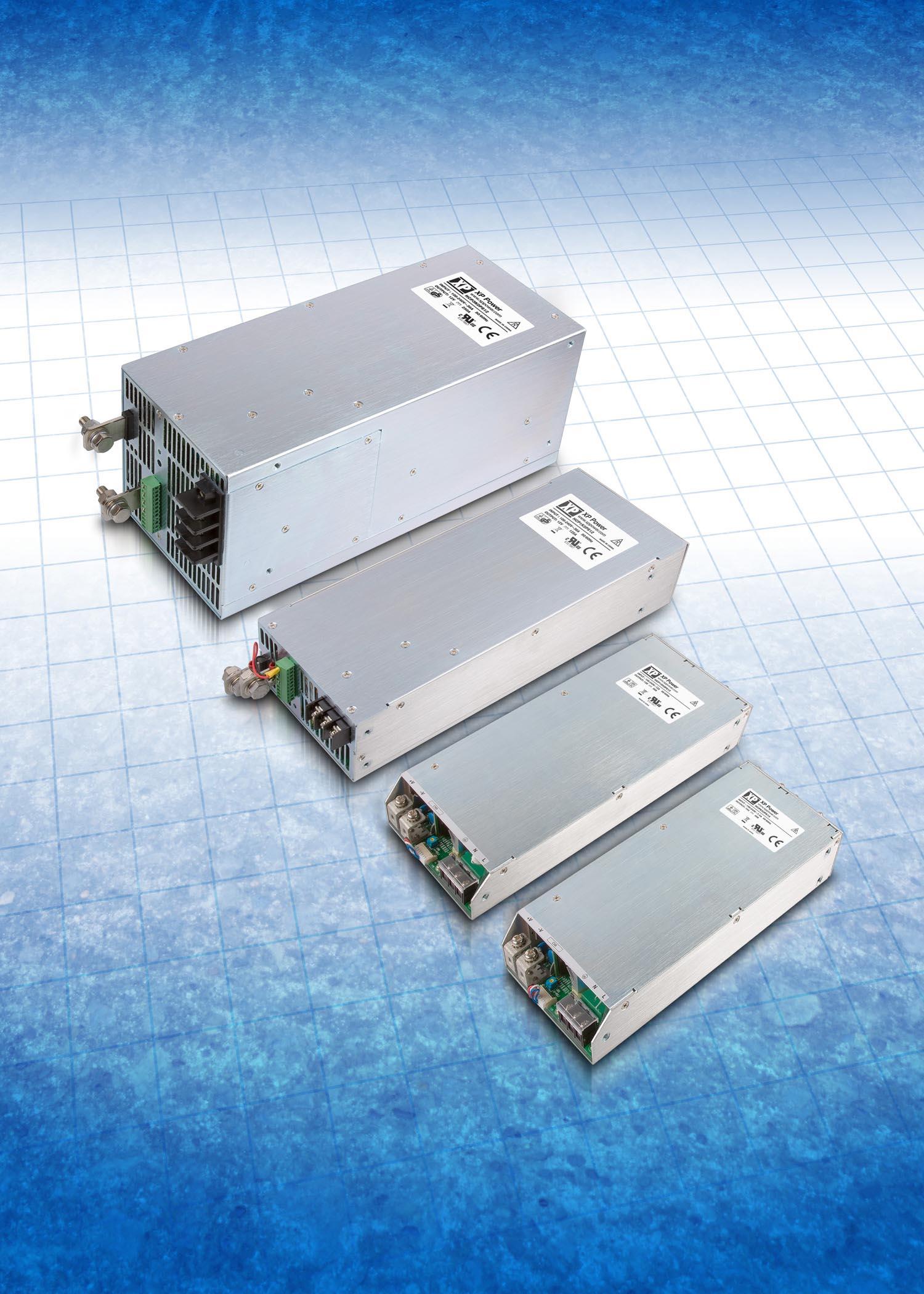 Компактные высокоэффективные источники питания AC/DC повышенной и большой мощности от XP Power