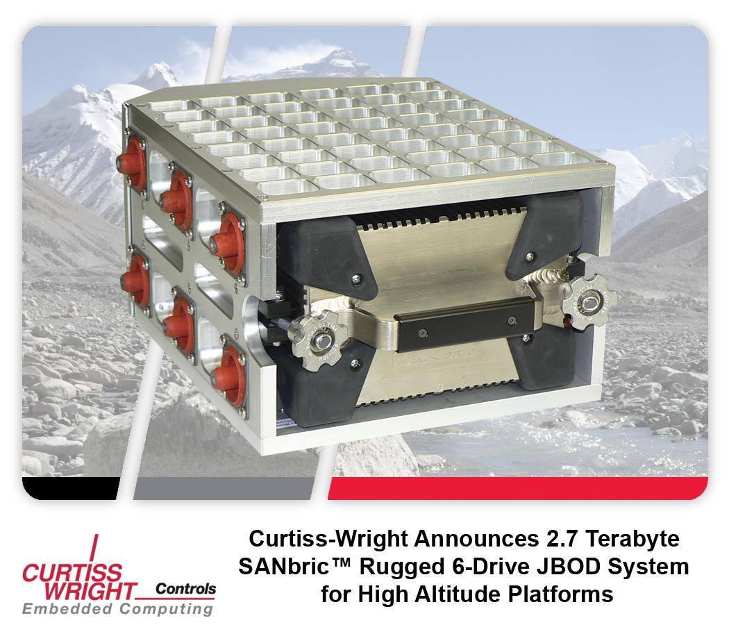Curtiss-Wright SANbric: бортовой 6-дисковый массив ёмкостью 2,7 Тб