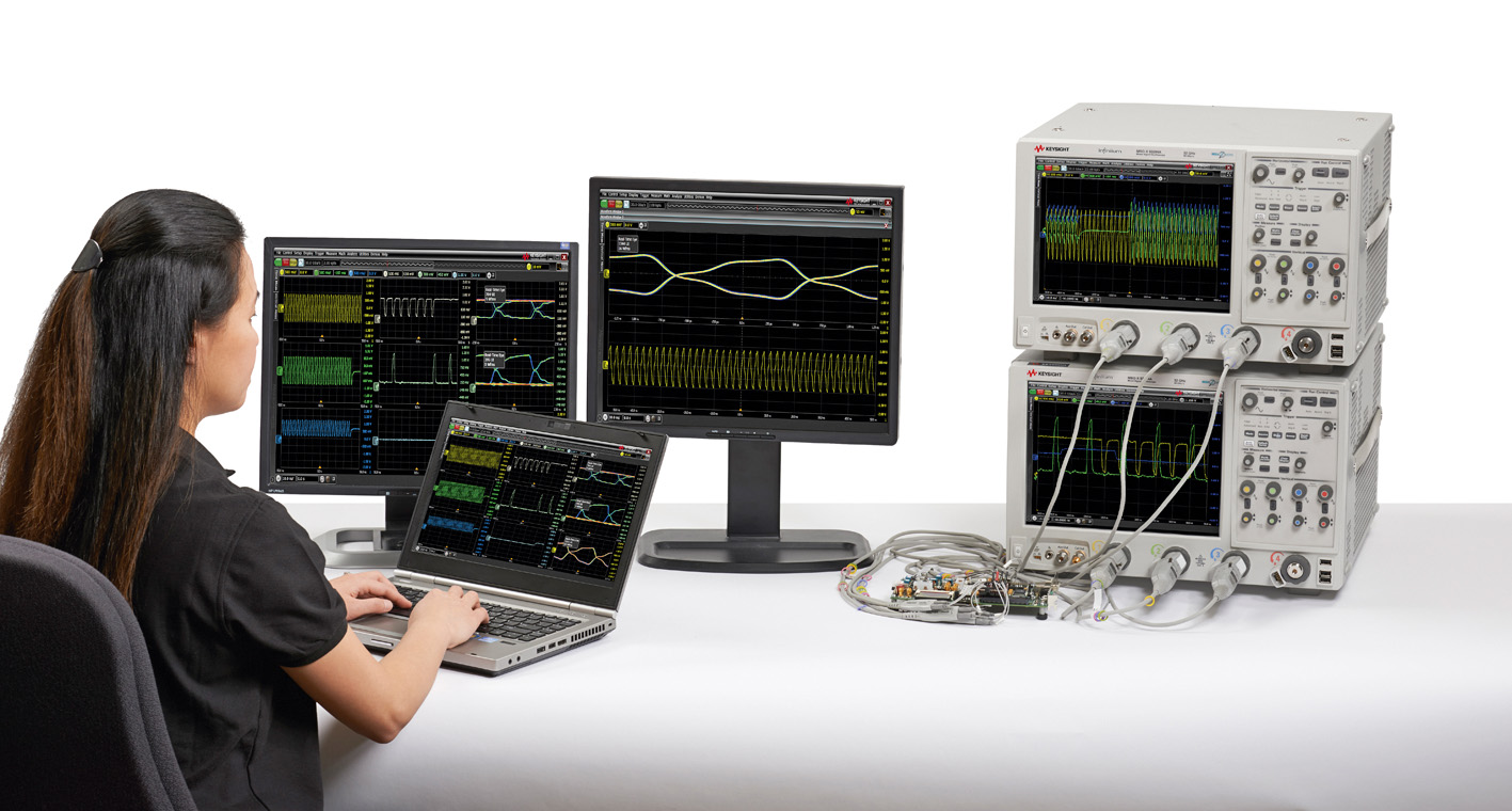 Приложение MultiScope  от Keysight для тестирования устройств, содержащих до 40 высокоскоростных последовательных каналов