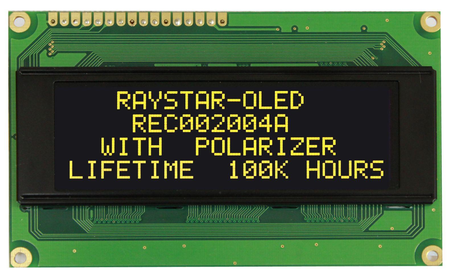 OLED-дисплей REC002004A для вывода текстовых сообщений с поддержкой интерфейса RS232