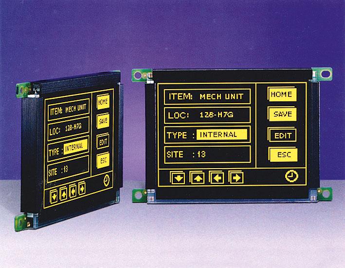 Малоформатный электролюминесцентный дисплей EL160.120.39 СС с защитным покрытием печатных плат