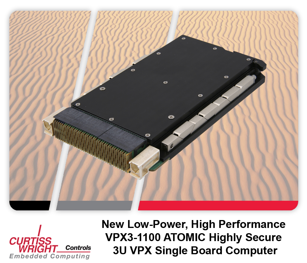 Curtiss-Wright VPX3-1100 ATOMIC: одноплатный компьютер формата 3U VPX на базе микропроцессора Intel ATOM