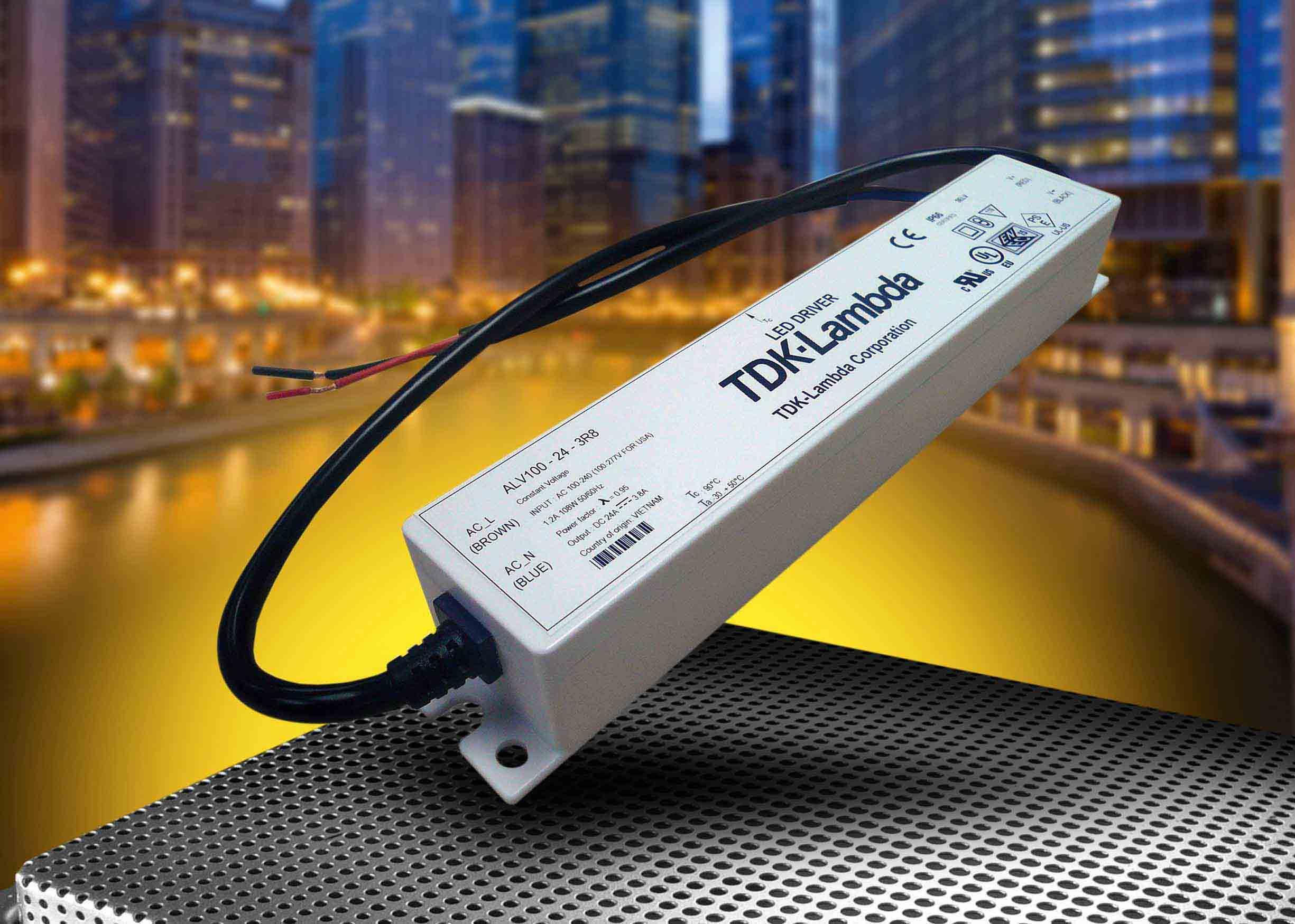 Новые источники питания AC/DC со степенью защиты IP66 для светодиодных систем освещения