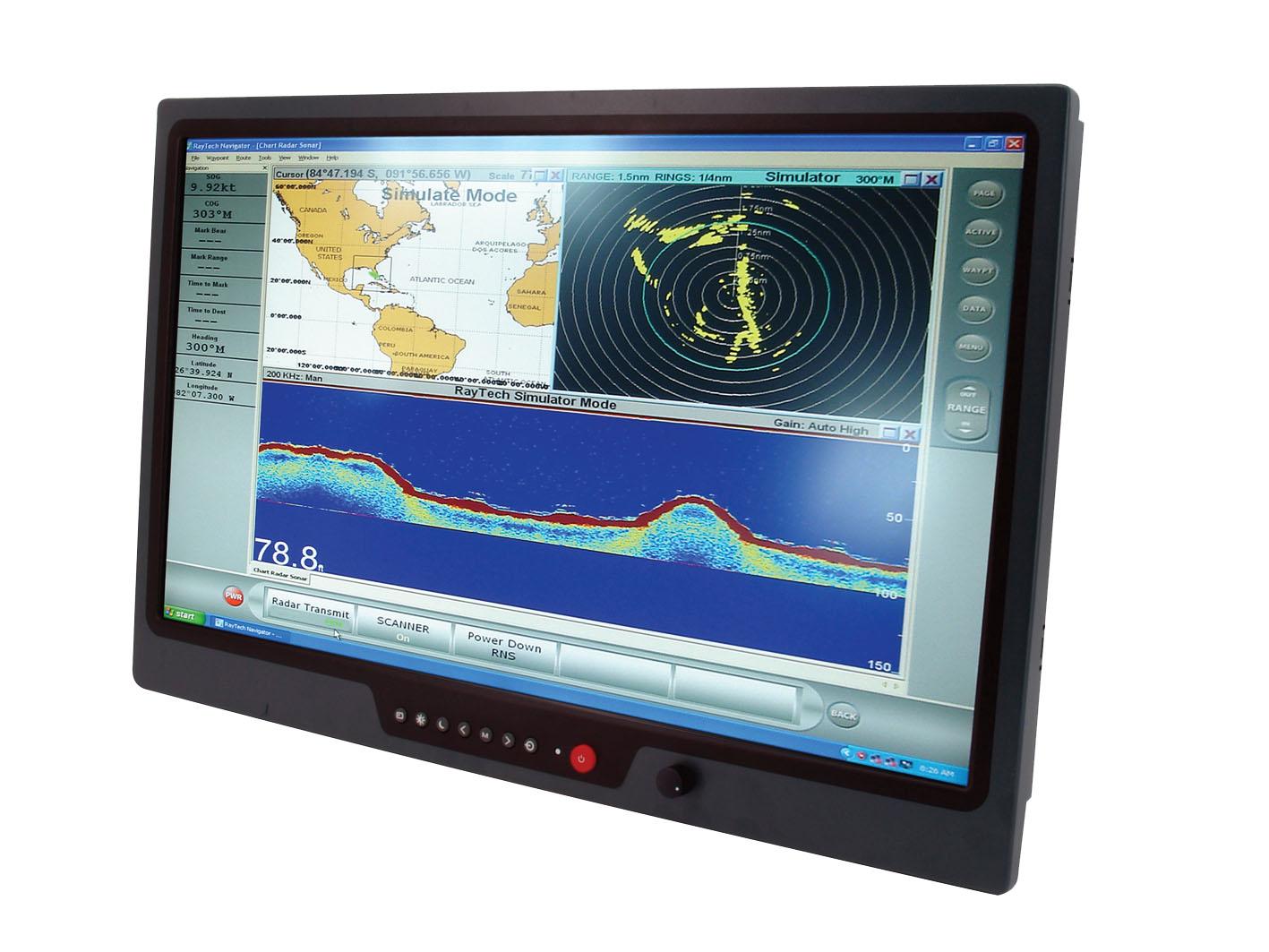 """24"""" ЖК-дисплей высокой яркости для применения в морской аппаратуре"""