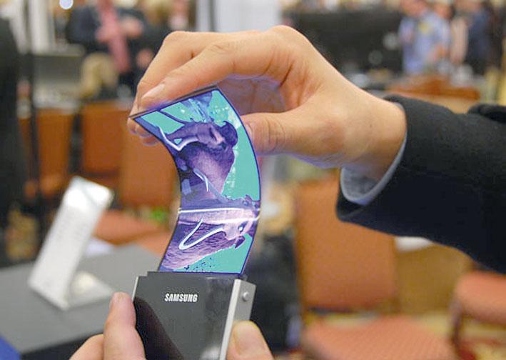 Удивительный прототип гибкого AMOLED-дисплея Samsung